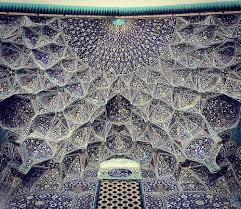 the tessellated and elaborately detailed ceilings of iranian
