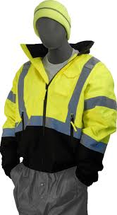 hi vis cycling jacket safety jacket majestic 75 1311 cl3 hi vis yellow bomber jacket