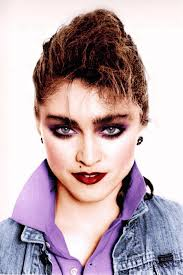 madonna typical 80 u0027s makeup and popped collars another time in