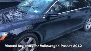 volkswagen passat key entry manual key option youtube