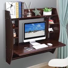Flat Computer Desk Yescomusa Rakuten Wall Mounted Floating Computer Desk With