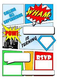 superhero birthday invitations marialonghi com