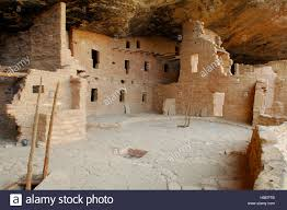 restored kivas in plaza c three story house and tower spruce