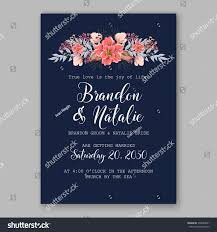 Background Of Invitation Card Wedding Invitation Card Tropical Poinsettia Peony Stock Vector