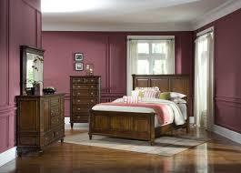 cherry bedroom furniture wooden floor purple wall decoration