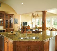dazzling contemporary kitchen with blue sky granite table top