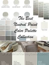 color palette for home interiors best neutral paint color palettes for your entire house