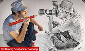 top 10 everything pencil drawing vs camera 25 creative pencil