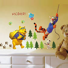 sticker set picture more detailed picture about winnie the pooh winnie the pooh tigger jungle adventures wall sticker nursery wall stickers for kids rooms decoration removable