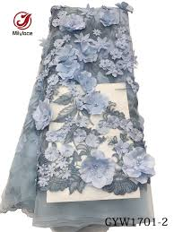 tulle fabric wholesale 3d flower lace tulle fabric high quality beaded lace fabric