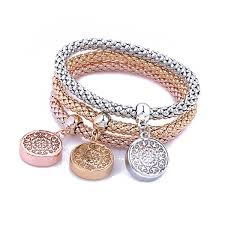 rose gold womens bracelet images 3pcs charm women bracelet gold silver rose gold rhinestone bangle jpg