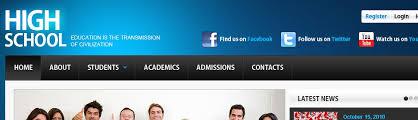 high school web design class website template 39301 high school education custom website
