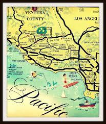 santa california map california map print santa los angeles house