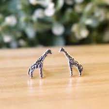 giraffe earrings everyday silver giraffe earrings giraffe things