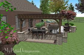 Patio Designs With Pergola by Creative Brick Patio Design With Pergola Tub Seat Walls And