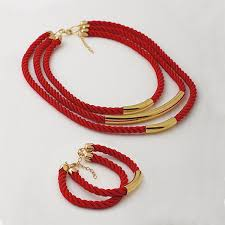 red rope bracelet images Jewelry set choker bracelet red bracelet red necklace red jpg