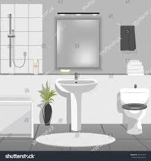 Modern Bathroom Toilet Modern Bathroom Interior Sink Bathtub Toilet Stock Vector