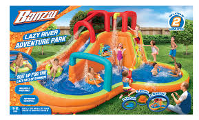 banzai lazy river adventure park backyard inflatable waterslide