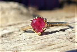art deco 1920 engagement ring 50ct natural ruby unique engagement