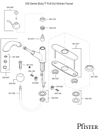 pfister kitchen faucet parts 538 series bixby