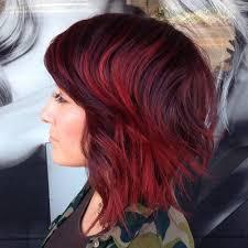 red brown long angled bobs 30 trendiest shaggy bob haircuts of the season