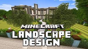 minecraft tutorial garden landscape with custom trees and lawn