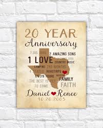 20 anniversary gift anniversary gifts for men 20th anniversary gift for him or