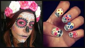 photos day of the dead makeup and manicure ideas