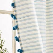 White Curtains With Blue Trim Bobble Trim For Curtains Functionalities Net