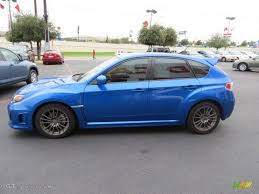 blue subaru hatchback wr blue mica 2011 subaru impreza wrx wagon exterior photo