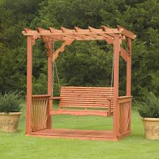 wood porch swing with frame free standing on a google search