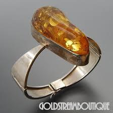 amber bangle bracelet images Amazing vintage sterling pear shape baltic amber modern hinged jpg
