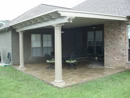 patio examples covered patio using snap n lock panel roof circular columns and