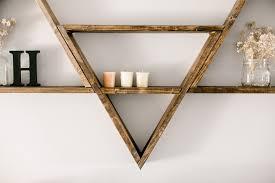 Triangle Wall Shelf Triangle Shelves Dear Loves Blog