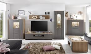Wohnzimmerschrank Auf Englisch Stella Trading Sugar Wohnwand Holzdekor Eiche Limbo Grau 348