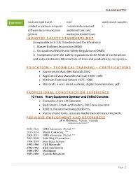 sample resume heavy equipment operator professional heavy