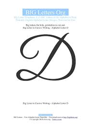 printable big letter d templates big letters org