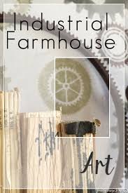 industrial farmhouse art country design style