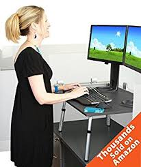 go standing desk by stand steady turn your existing desk into a