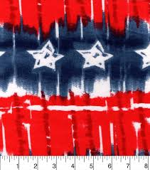 Red White Flag With Blue Star Snuggle Flannel Fabric 42