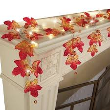 maple leaf garland with lights lighted harvest maple leaf garland this lovely garland features