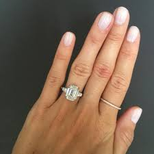 engagement rings emerald cut emerald cut engagement ring with tapered baguettes