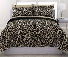 Cheetah Print Comforter Queen Polyester Animal Print Bed In A Bag Ebay