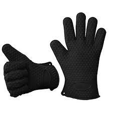 gant de cuisine gant de cuisine en silicone anti chaleur noir achat vente gants