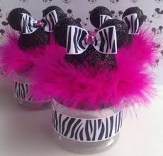 minnie mouse baby shower favor zebra and pink minnie
