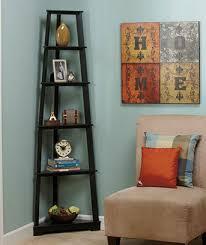 black 6 tier corner shelves home decor shelving ladder wall unit 5