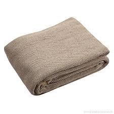 jeté de canapé en ehccanapé jeté de canapé en coton naturel à chevrons king size