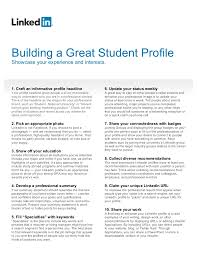 How To Put Your Linkedin Profile On Your Resume How To Build A Great Student Linkedin Profile