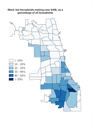 Map Chicago Metro by Where Does Chicago U0027s Black Middle Class Live U2013 City Notes