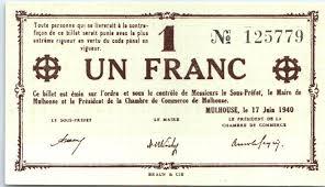 chambre commerce mulhouse banknote 1 franc mulhouse chambre de commerce sans série